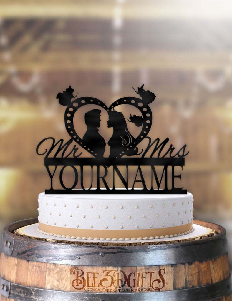 Personalized Aurora and Prince Philip Profile Cake Topper - Bee3dgifts
