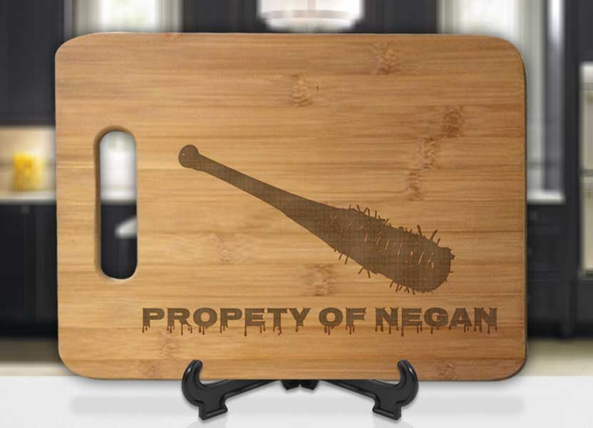 Property Of Negan Lucille Engraved Cutting Board - Bee3dgifts