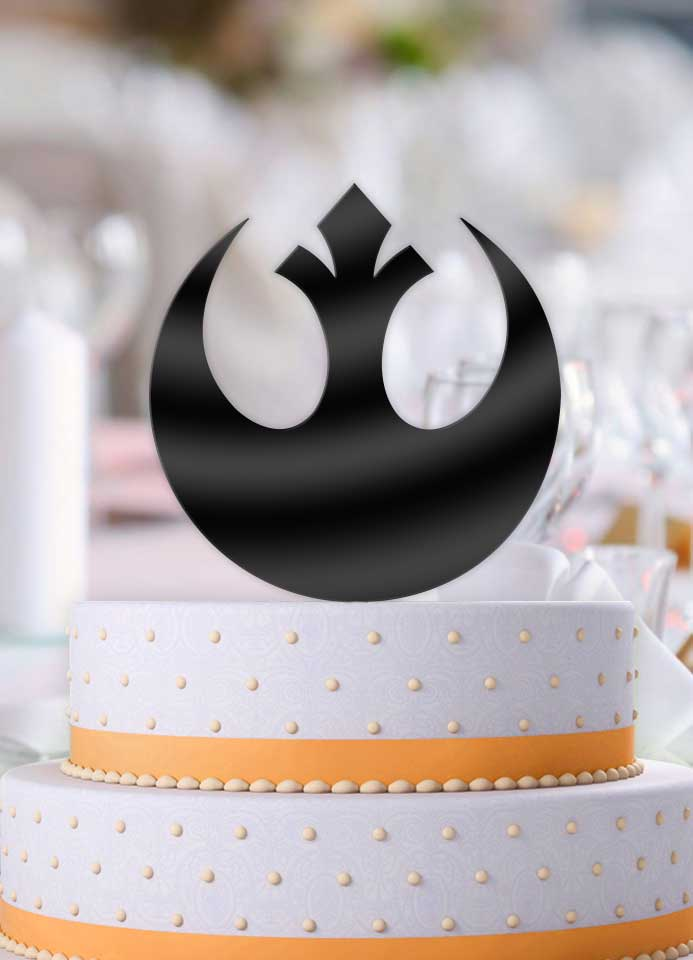 Star Wars Alliance Symbol Wedding Cake Topper - Bee3dgifts