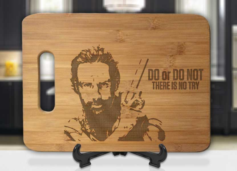 Rick Grimes Do, Do Not, No Try Engraved Cutting Board - Bee3dgifts