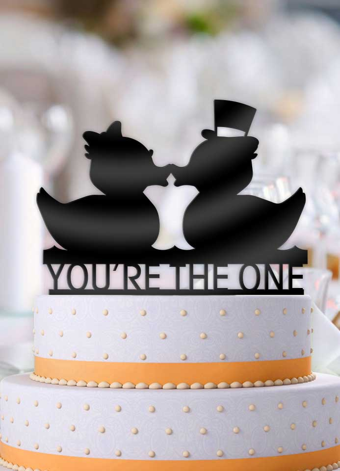 Rubber Duckies You're The One Cake Topper - Bee3dgifts