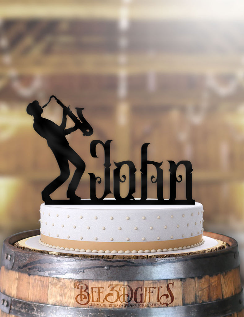 Enjoyable Personalized Male Sax Music Birthday Cake Topper Funny Birthday Cards Online Inifofree Goldxyz