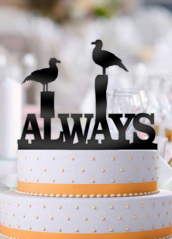 Seagulls Always Wedding Cake Topper - Bee3dgifts