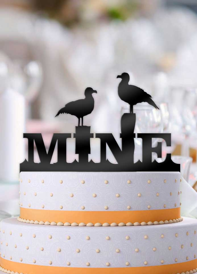 Seagulls Mine Wedding Cake Topper - Bee3dgifts
