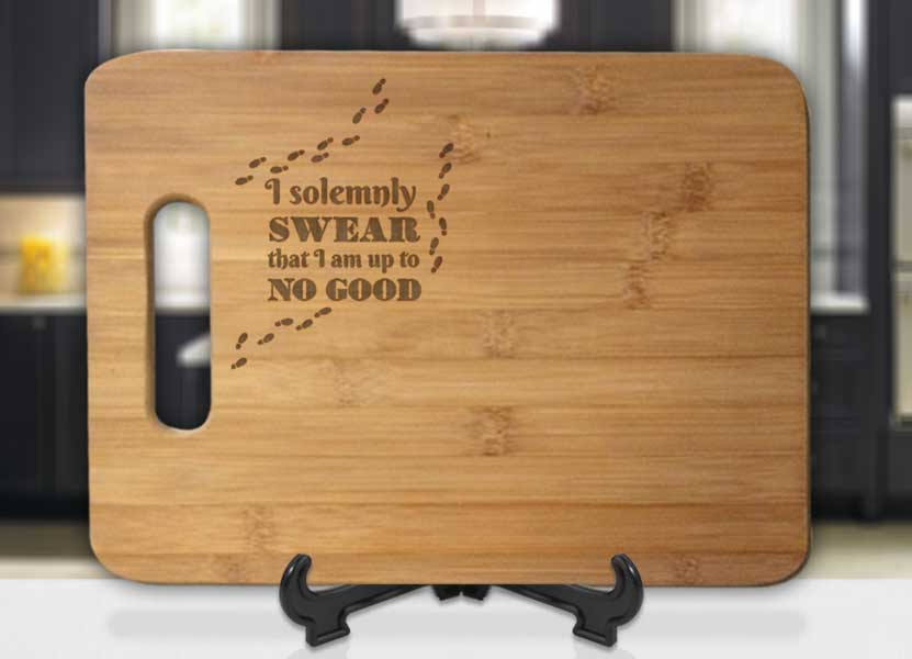 Harry Potter I Solemnly Swear That I'm Up To No Good Footsteps Engraved Cutting Board - Bee3dgifts