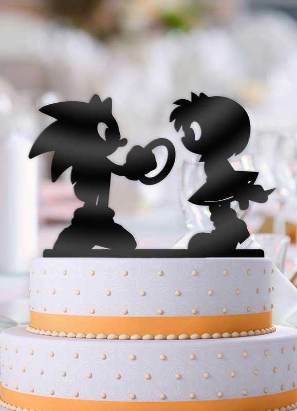 Sonic & Amy Rose Wedding Cake Topper - Bee3dgifts