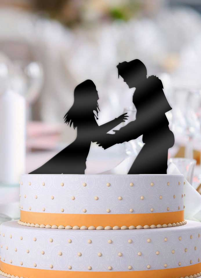 Squall and Rinoa Wedding Cake Topper - Bee3dgifts
