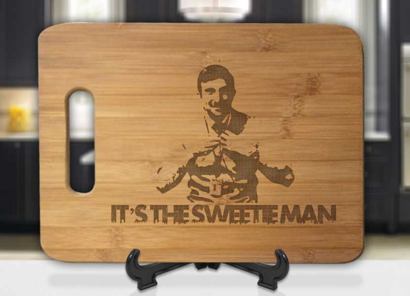 Its The Sweetie Man Engraved Cutting Board