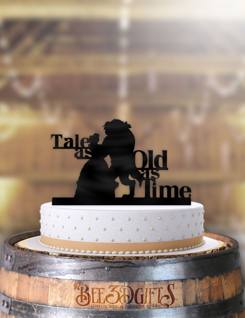 Beauty and the Beast Dance Tale As Old As Time Cake Topper - Bee3dgifts