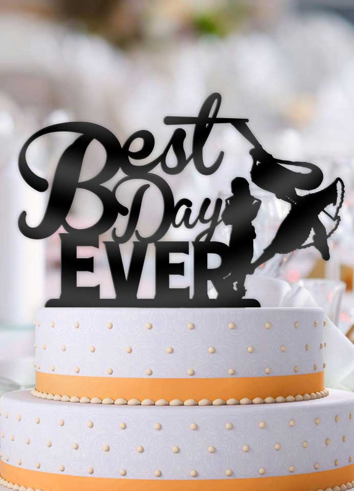 Tangled Best Day Ever Wedding Cake Topper - Bee3dgifts