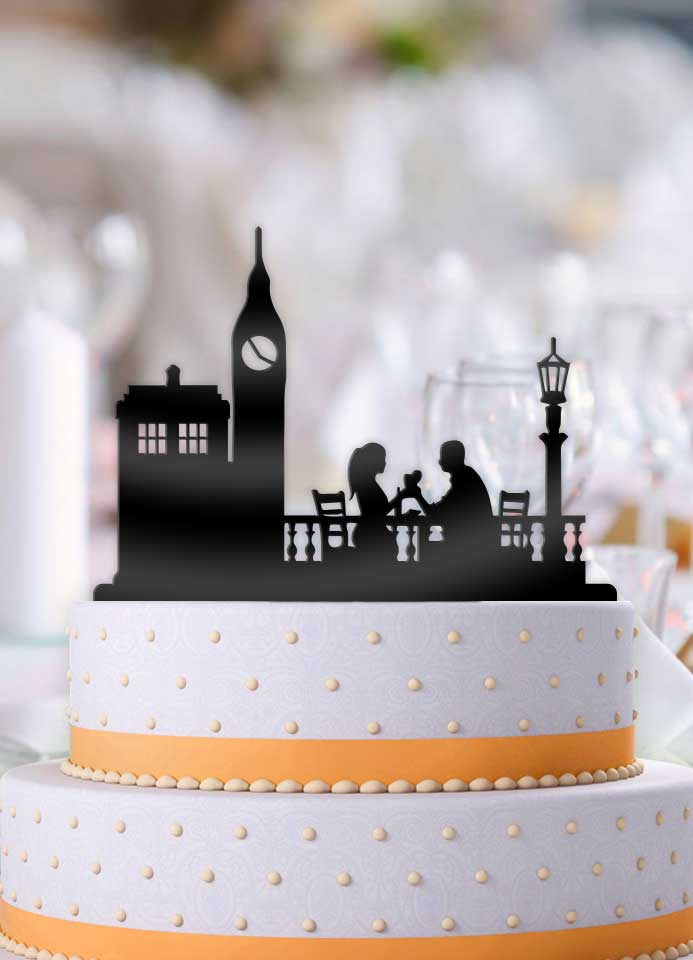Tardis in London Cake Topper - Bee3dgifts