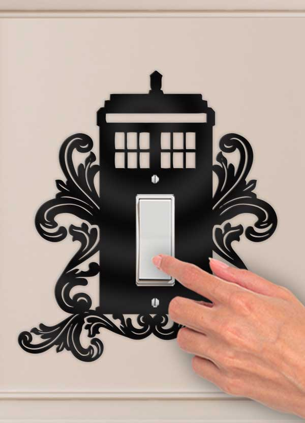 Doctor Who Tardis Decorative Wall Switch Outlet Plate - Bee3dgifts