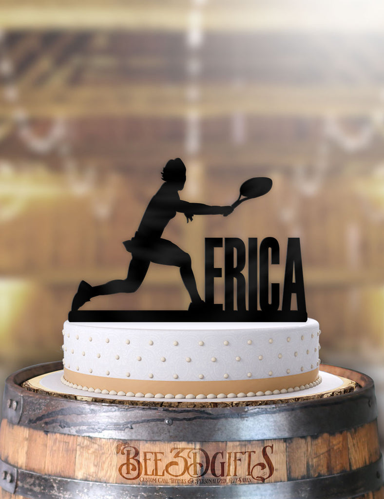 Personalized Female Tennis Birthday Cake Topper - Bee3dgifts
