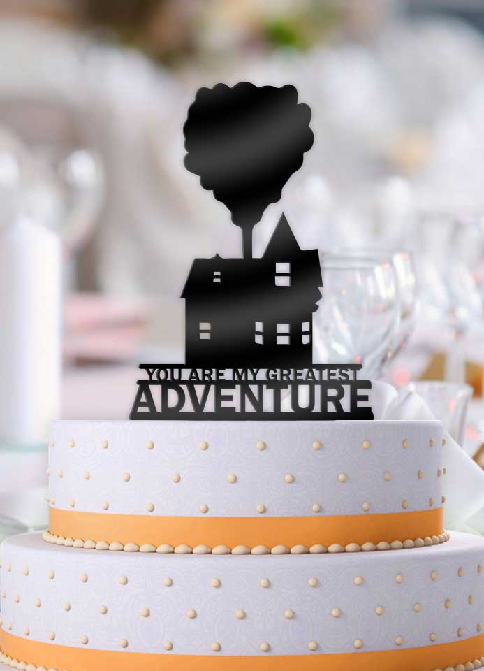 Up House with Balloons You Are My Greatest Adventure Cake Topper - Bee3dgifts