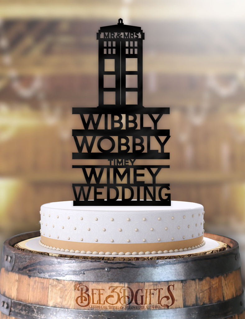 Doctor Who Wibbly Wobbly Timey Wimey Cake Topper - Bee3dgifts