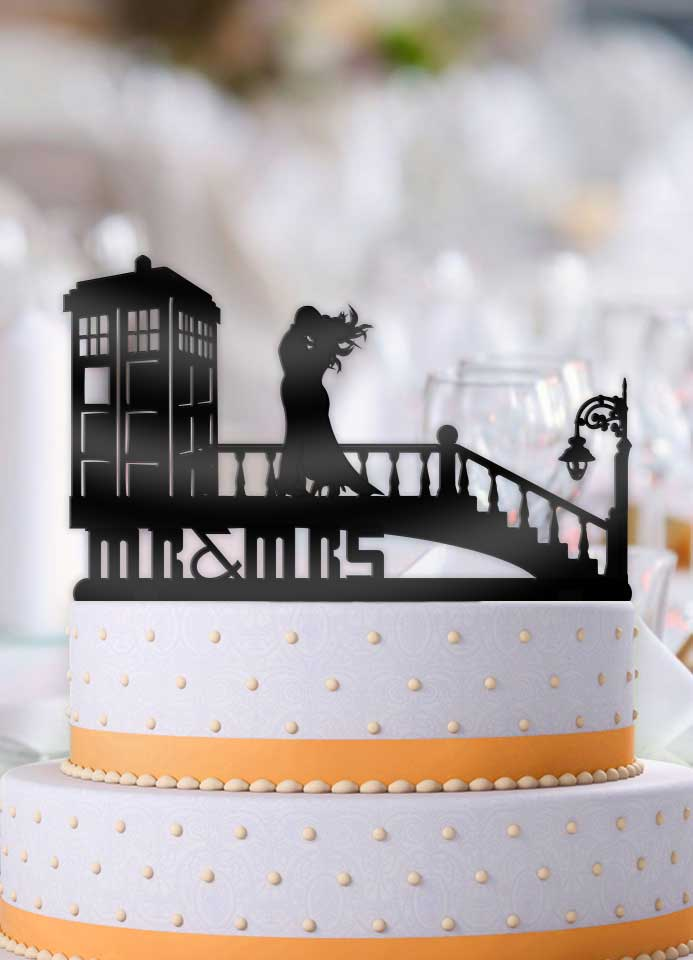 A Very Windy Tardis Day Wedding Cake Topper - Bee3dgifts