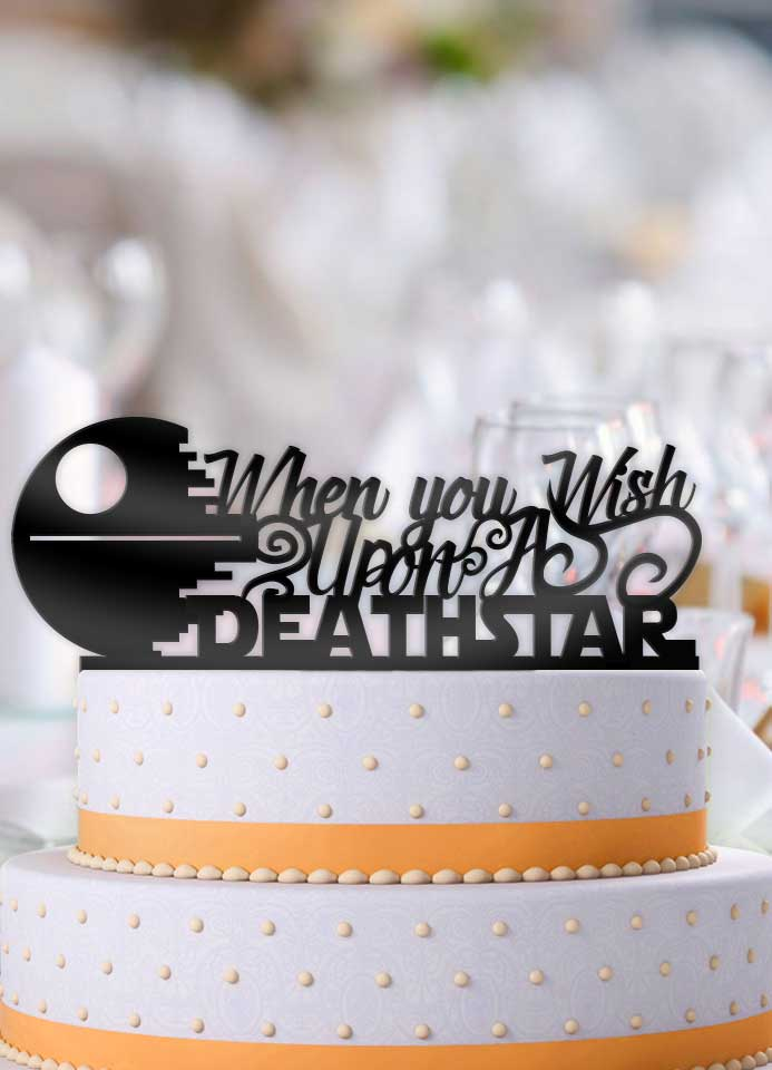 When You Wish Upon A Deathstar Star Wars Wedding Cake Topper - Bee3dgifts