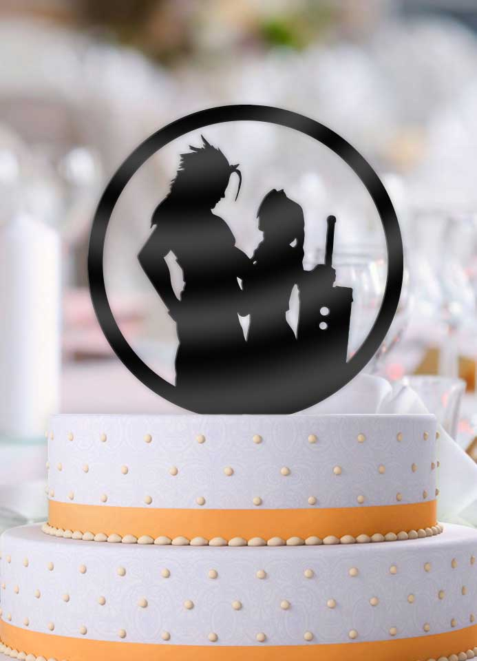 Zach and Aerith Wedding Cake Topper - Bee3dgifts
