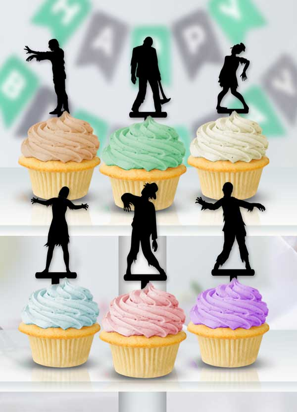 The Stalking Dead Zombie Cupcake Toppers - Bee3dgifts