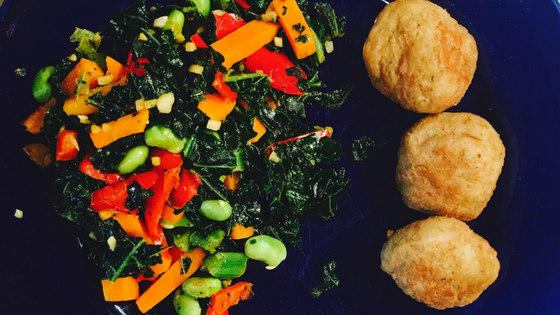 Heart Healthy Turkey Balls with Kale Blend
