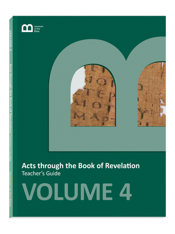 Bible Curriculum - Teacher's Guide Textbook - Volume 4 - Acts through the Book of Revelation