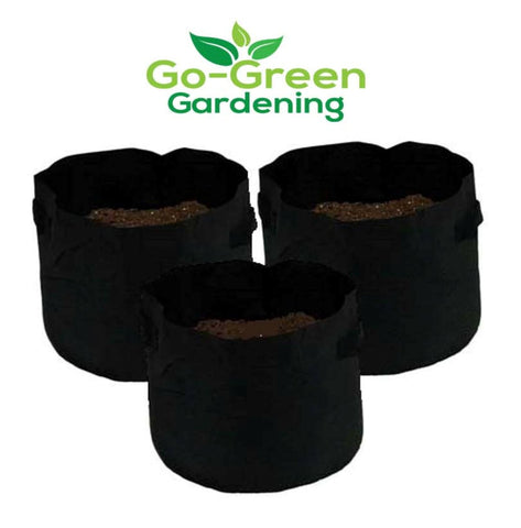 Go-GreenGardening Soft-Sided Fabric Grow Bags-Root Aeration Planting Bags - 3 Pack