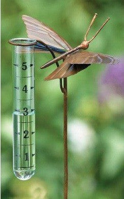 Ancient Graffiti Ancient Graffiti Flamed Copper Butterfly Rain Gauge