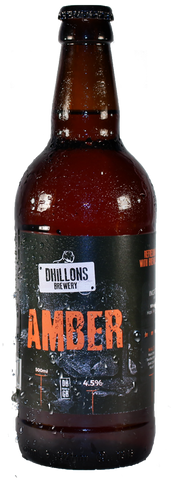craft beer of Dhillons Amber  - Case of 12 Bottles