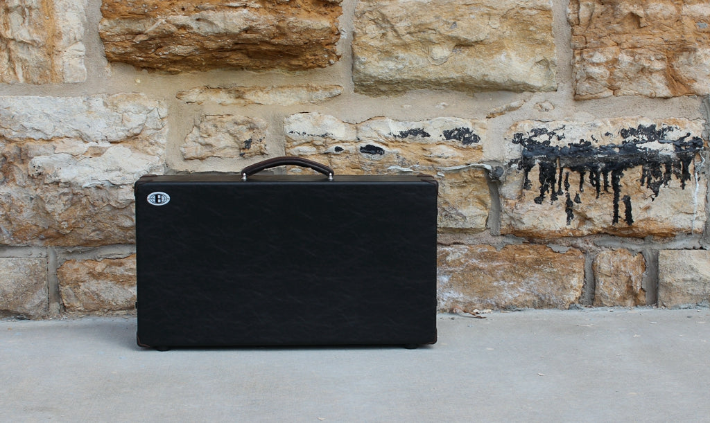 Helweg Signature Pedalboard Case_Black_Coffee Brown