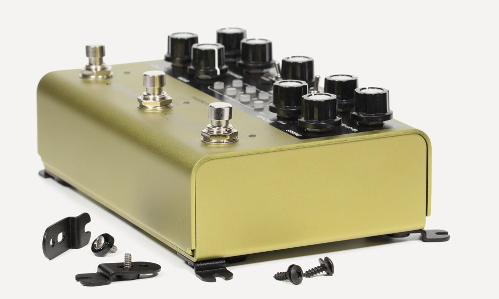 Strymon Volante with pedal mounting brackets