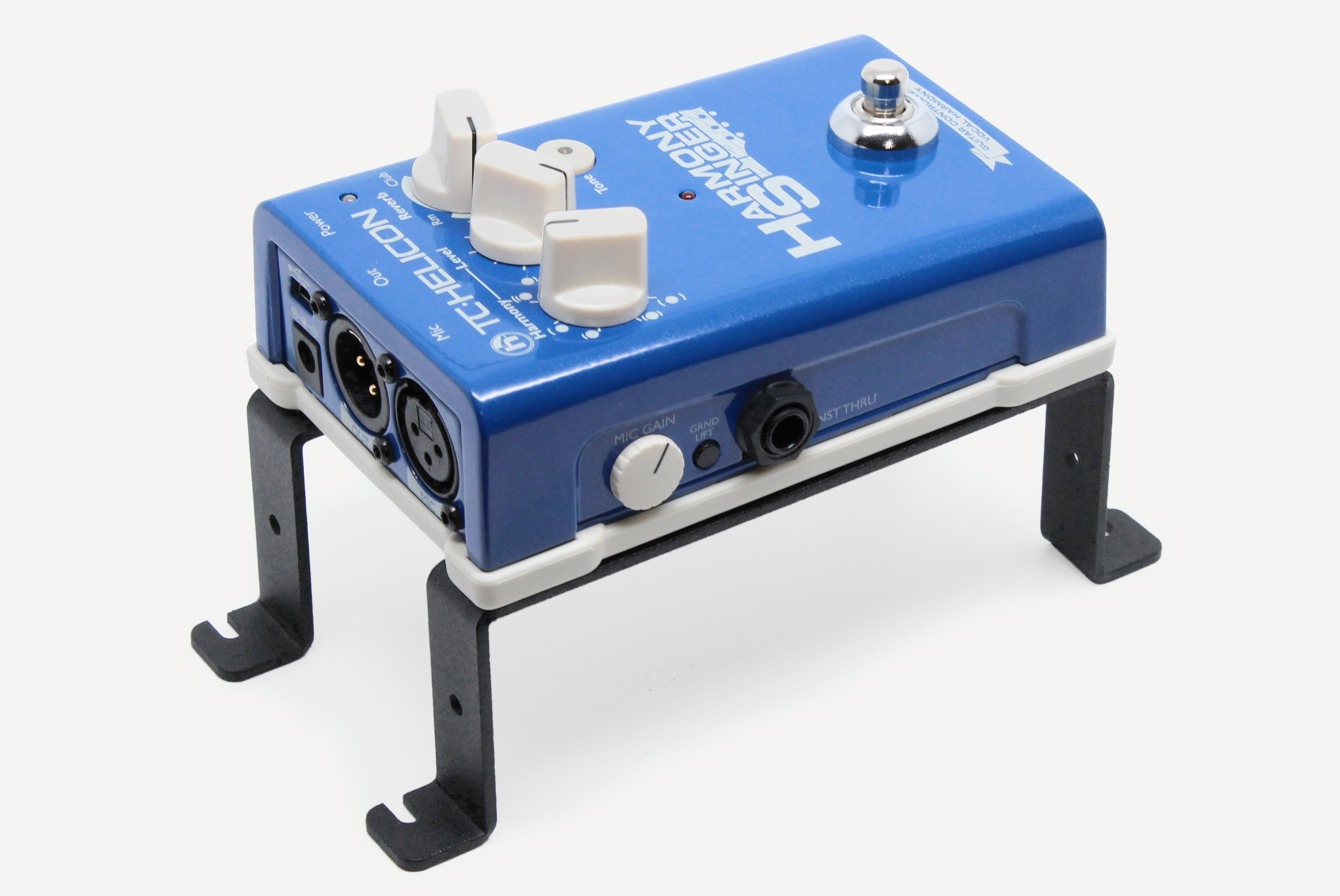TC Helicon Harmony Singer on pedal risers