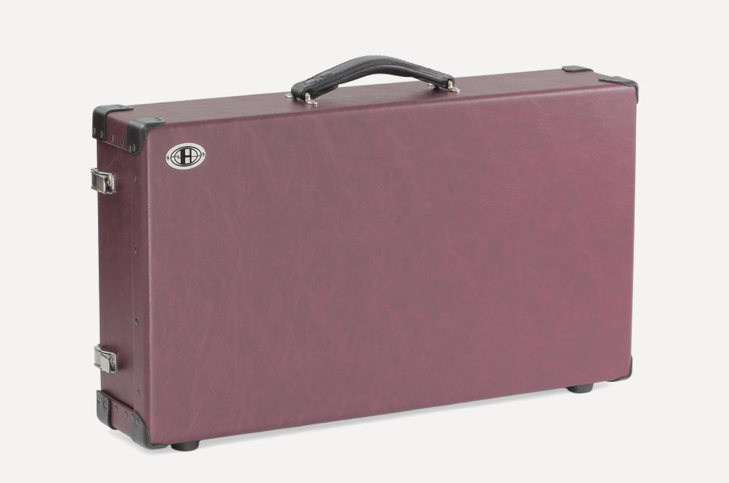Helweg Signature Pedalboard Case in Wine and Black Colorway