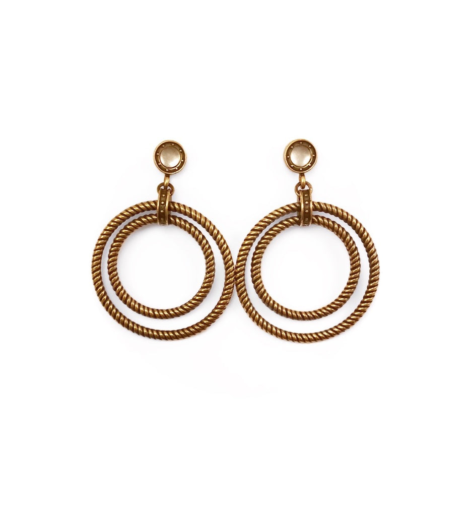 Double Rope Hoop Earrings