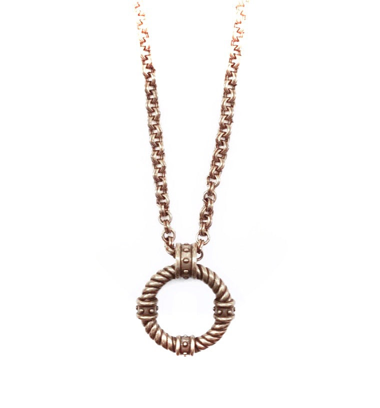 Rope Circle Pendant Necklace