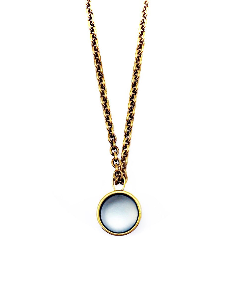 Double Porthole Pendant Necklace