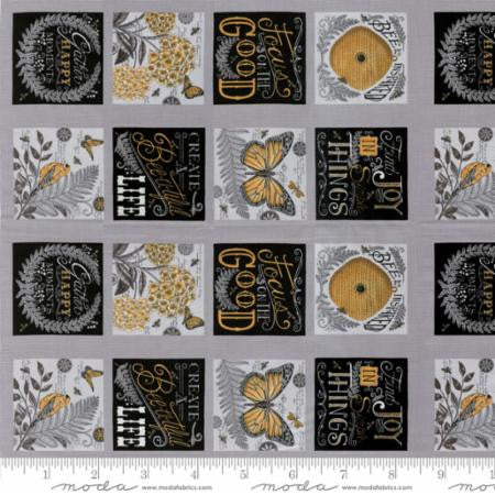 Bee Inspired Novelty Nature Blocks in Pebble Grey