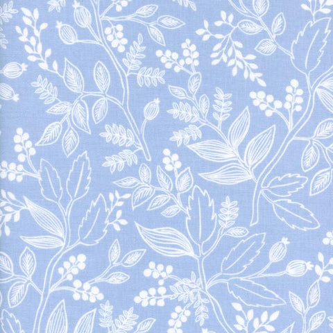 Les Fleurs by Rifle Paper Co. Queen Anne in Pale Blue