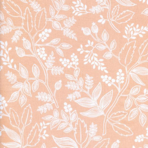 Les Fleurs by Rifle Paper Co. Queen Anne in Peach