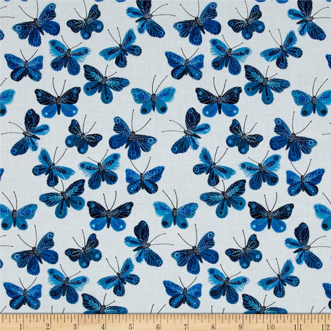 Moody Blues Organic Collection-Butterflies White