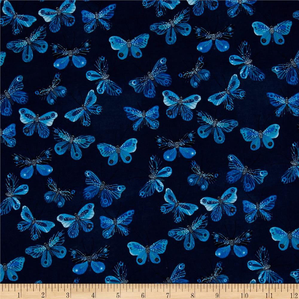 Moody Blues Organic Collection-Butterflies Navy, Biology