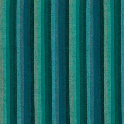 Kaffe Fassett Wovens Multi Stripe in Deep Sea