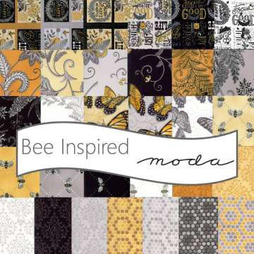 Bee Inspired Ebony in Black by Deb Strain for Moda