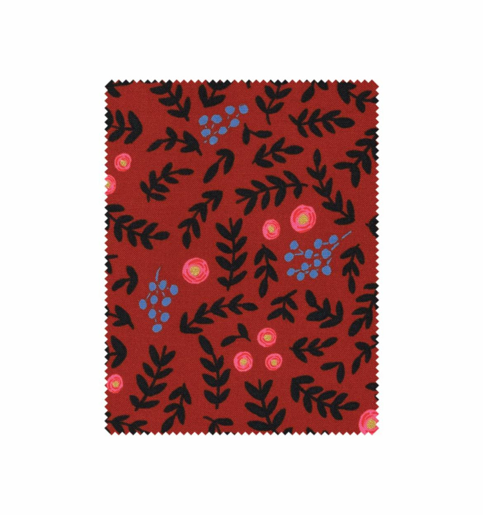 Wonderland Rose Garden in Crimson by Rifle Paper Co. for Cotton + Steel