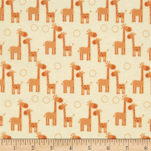 Giraffe Family in Orange