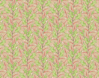 Anna Griffin Blend Joy & Wonder Holly Jolly Ivory Cotton Fabric