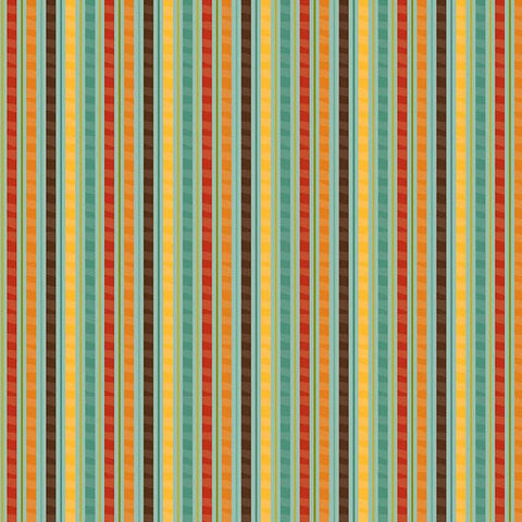 Giraffe Crossing Stripes Teal