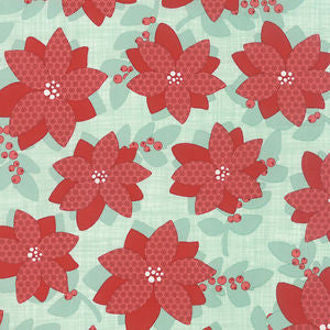 Winterberry Floral in Mint
