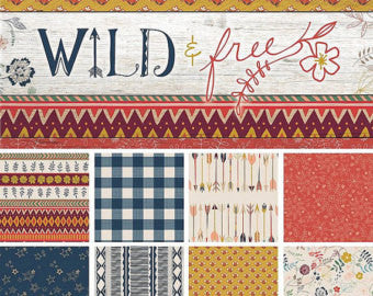 Wild & Free Folk Plaid Sun Tracks Midnight Metallic Gold