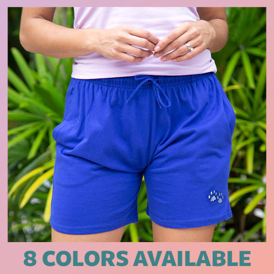 Purple Paw Women's Casual Shorts - 8 Colors Available