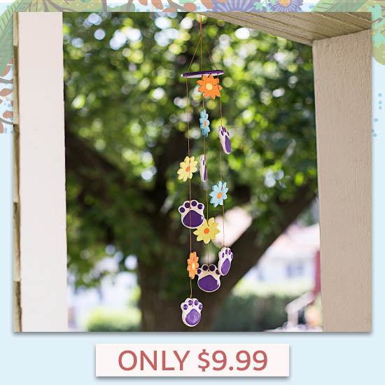 Purple Paw Flowers Chime - Only $9.99